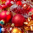 Christmas balls and tinsel - 图库照片