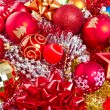 Christmas balls and tinsel — Stock fotografie