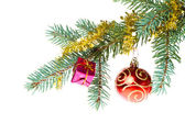 Filial de natal decorada — Foto Stock