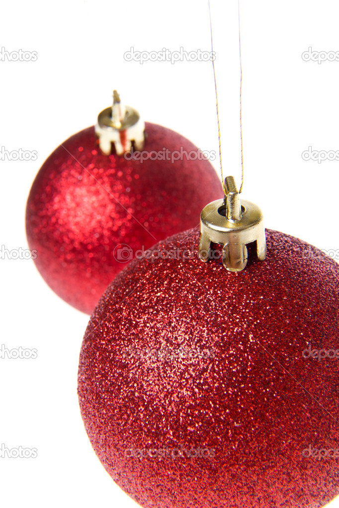 Christmas balls isoalted on white background — Stock Photo #7656676