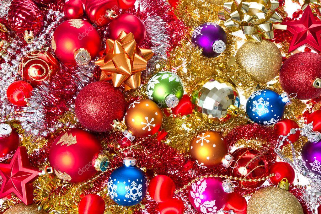 Christmas balls and tinsel — stock photo kubais