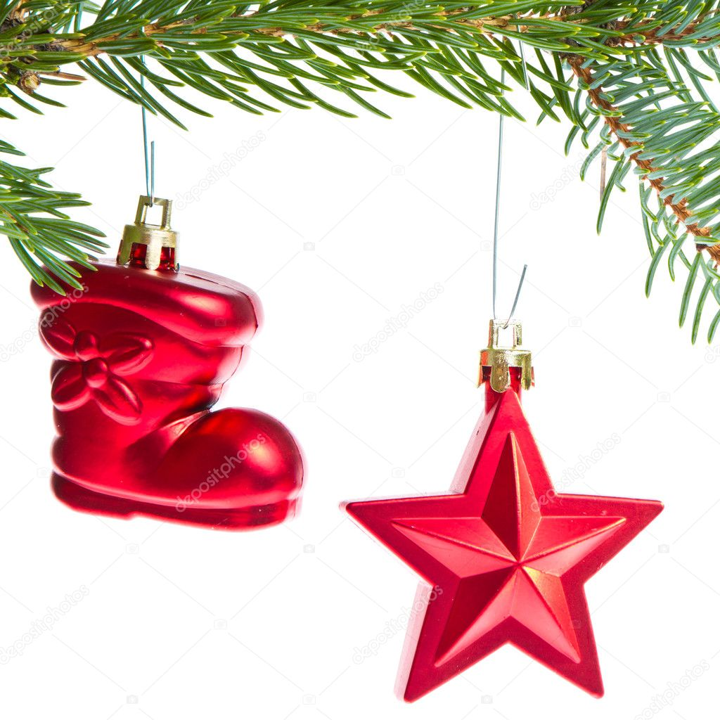 Christmas decoration hanging from a tree — Stock Photo #7658124