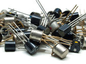 Old transistors — Stock Photo