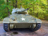 Old WWII tank with US military star on the front. — Stock Photo