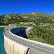Stock Photo: Dam of Chevril or Tignes and Mont-Pourri, France