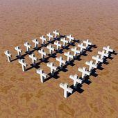 White crosses — Stock Photo