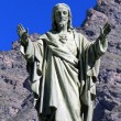 Jesus Statue at Bessans, France — Stock Photo