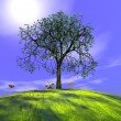 Summer tree and nature — 图库照片 #7194385