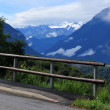 Road and Alps mountain, Switzerland — Stock Photo #7296387