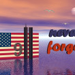 9-11 never forget — Stock Photo