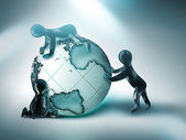 Rolling the World — Stock Photo