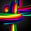 Stock Photo: Rainbow knot