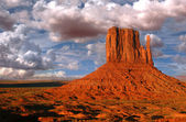 Monument Valley Utah known as The Mittens — Stock Photo