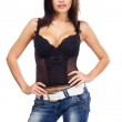 Sexy lady in a corset — Stock Photo