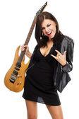 Seksi bayan gitar — Stok fotoğraf
