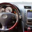 Stock Photo: Interior details of a luxury car