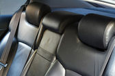 Leather back car seats — Stock Photo