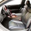Stock Photo: Interior of a luxury car