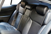 Leather back car seats — Stockfoto