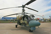 A Russian combat helicopter Ka-52 — Stock Photo