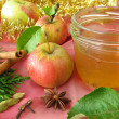 Apple jelly with christmassy spices - Stock Photo