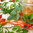 Jam with rose hips - Stock Photo