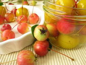 Preserved mini-apples — Stock Photo