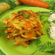 Pancakes with carrots and parsnips — Stock Photo