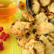 Oat flakes cookies for the tea — Stock Photo