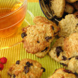 Stock Photo: Oat flakes cookies for the tea