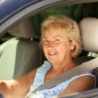 Royalty-Free Stock Photo: Senior woman driver