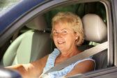 üst düzey kadın sürücü — Stok fotoğraf