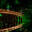 Sunbeam Huc Bridge at night — Stock Photo