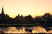 Sukhothai al tramonto — Foto Stock