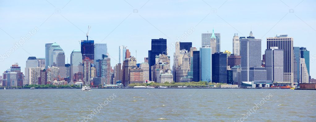 New York City downtown and Manhattan skyline panorama, USA  — Stock Photo #6987121