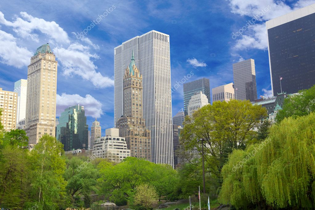 Central Park with Manhattan skyline, New York  — Stock Photo #6987924