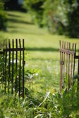 Gate at garden — Stock Photo
