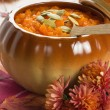 Pumpkin soup with seeds — Stock Photo #7557255