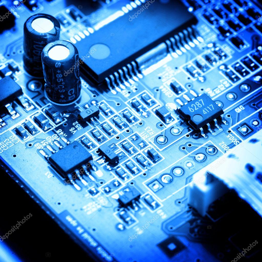 Circuito Eletronico : Close up do circuito eletrônico fundo de macro — foto