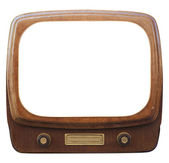 Old framed TV — Stockfoto