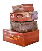Vintage suitcases — Stock Photo