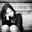 Teenage girl looking thoughtful about troubles — Stock Photo #7295582