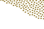 Gold stars on white background — Stock Photo