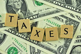 Taxes in lettern — Stock Photo
