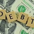 Debt in lettern — Stock Photo #7274073
