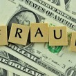 Stock Photo: Fraud in lettern