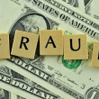 Fraud in lettern — Stock Photo