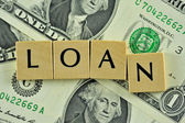 Loan in lettern — Stock Photo