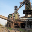 Stock Photo: Blast furnace and railway
