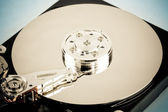Inside of the hard disk — Stock Photo